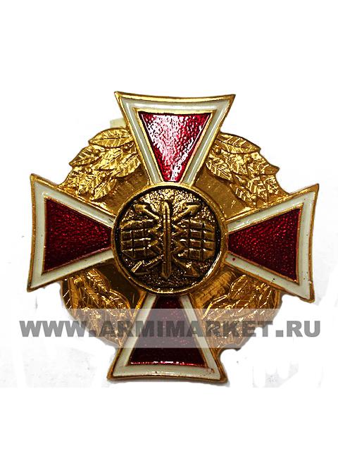 """0180 значок алюм """"РТВ ВВС"""" крест красный, средний h 35мм"""