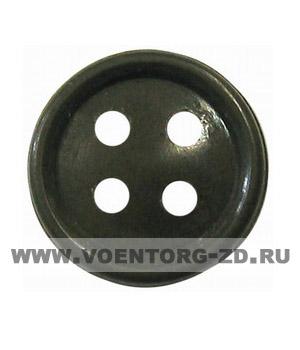 Пуговица 4-х прокол.d14, тём.-олив., арт.С91-1400 аминопласт.