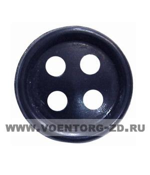 Пуговица 4-х прокол.d14, темно -синяя арт.С91-1400 аминопласт.