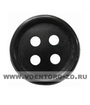 Пуговица 4-х прокол.d14, чёрная арт.С91-1400 аминопласт.