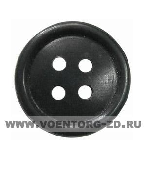 Пуговица 4-х прокол.d17, тём.-сер., арт.С91-1400 аминопласт.