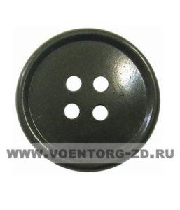 Пуговица 4-х прокол.d20, тём.-олив., арт.С91-1400 аминопласт.