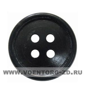 Пуговица 4-х прокол.d20, черная арт.С91-1400 аминопласт.