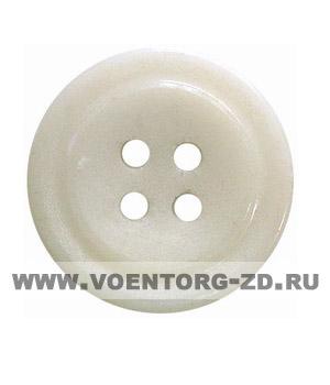 Пуговица 4-х прокол.d23, белая, арт.С91-1400 аминопласт.