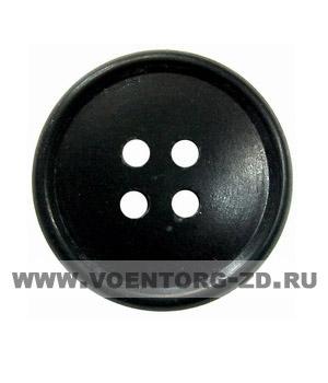 Пуговица 4-х прокол.d23, черная арт.С91-1400 аминопласт.