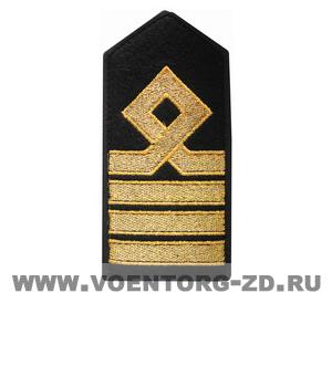 Погоны морского флота 8 категории, (старпом капитана) 1узк галун 2 средних галуна квадр петля, съём.