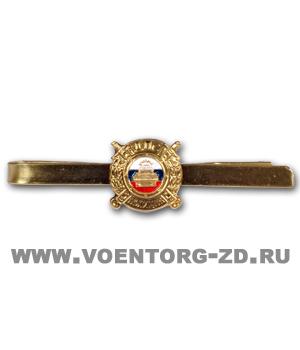 Зажим для галстука ДПС полиция (машина триколор латунь)