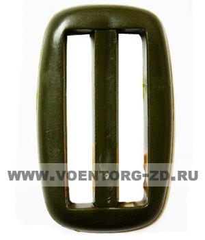 Пряжка пластиковая 46 А тем.оливковый, черная