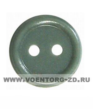 Пуговица 2-х прокол.d11, оливковая аминопласт.
