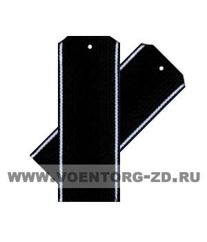 Погоны черные белый кант съёмные (ВМФ)