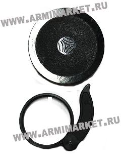 Лупа (увеличит стекло) круглая складная (СССР, 113*95*20 мм, увеличение 2,1)