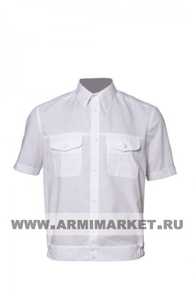 Рубашка белая с коротким рукавом для офицерского состава р.46/3,4,5,  47/3,4,5,6,  48/4,5,6