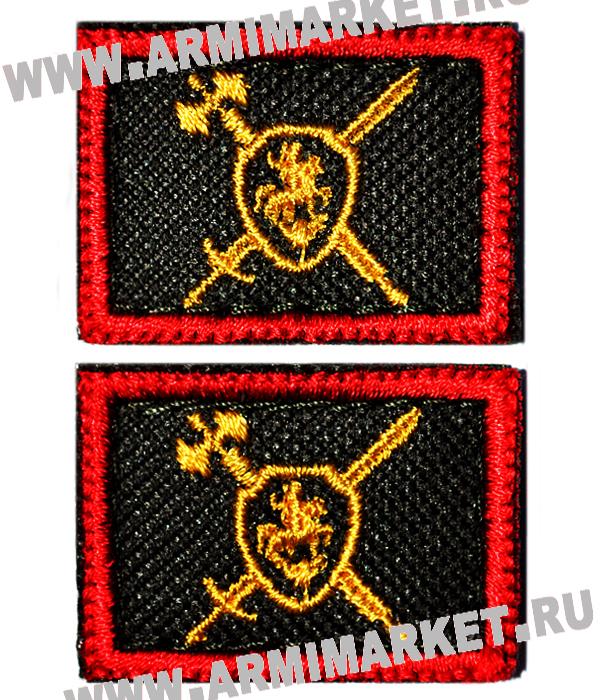 Вышитая эмблема военная полиция ( красный кант ) на липучке