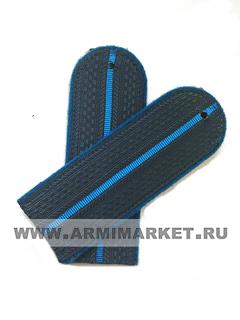 Погоны ФССП судебный пристав серые с 1 голубым просветом и голубым  кантом