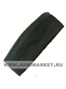 Пилотка для офиц. состава (оливковая, васильковыйый кант) р.55, 56